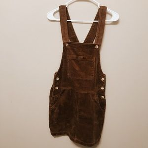 Brown Corduroy Pinafore Dress ( Overall Dress )